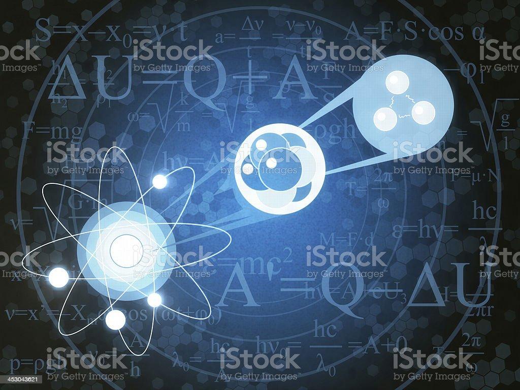 Nuclear vector art illustration