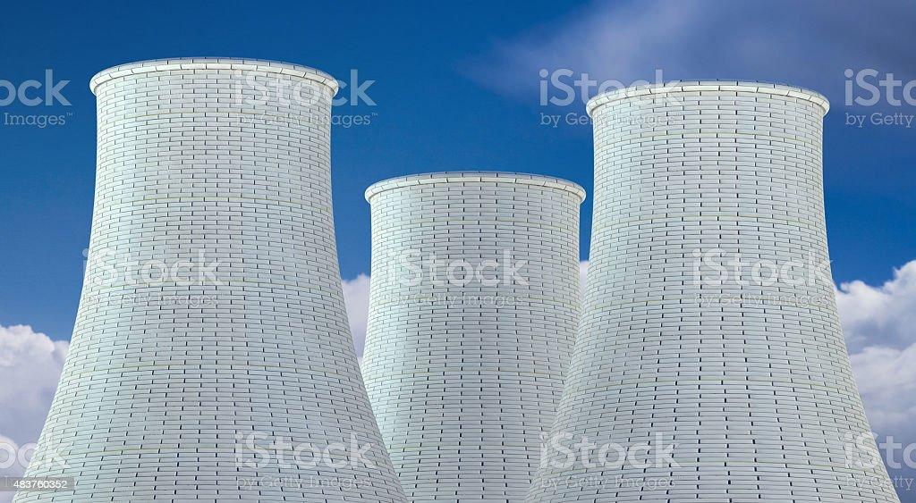 Nuclear Power Plant vector art illustration