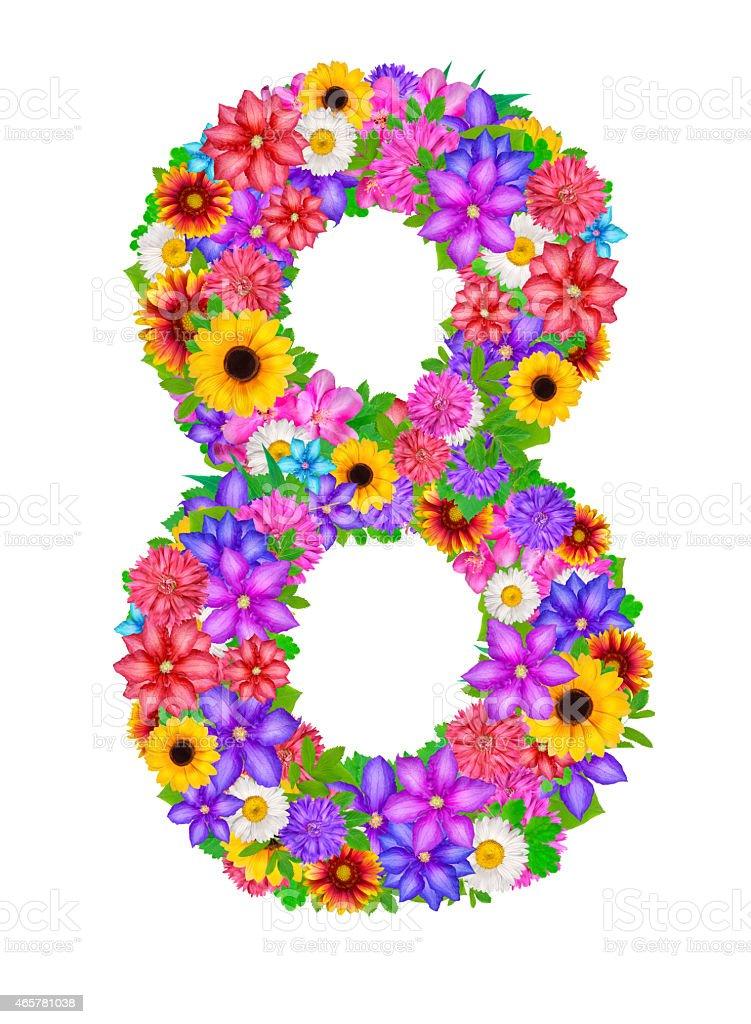 Числа из цветов