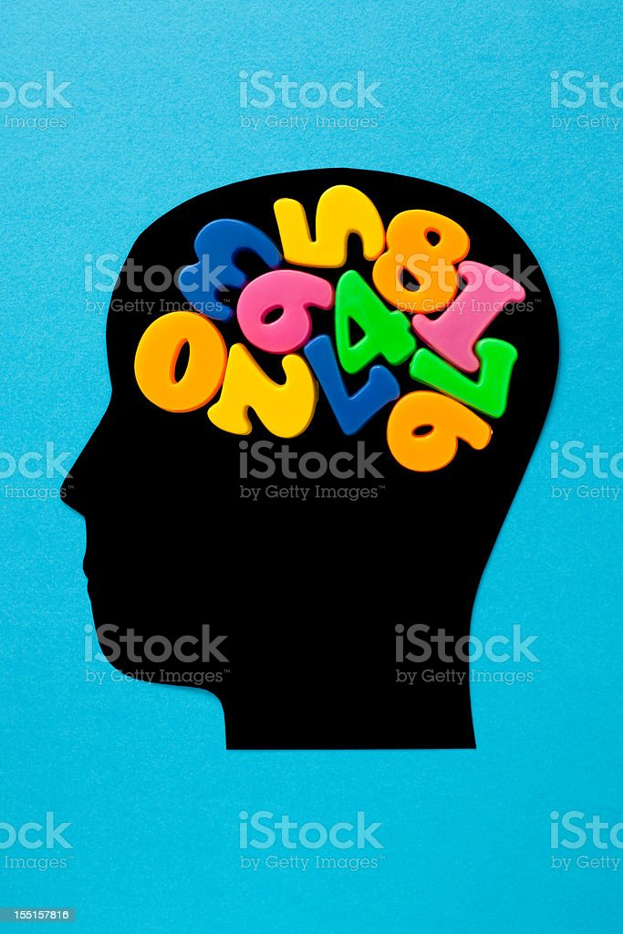 Numeric thoughts royalty-free stock vector art