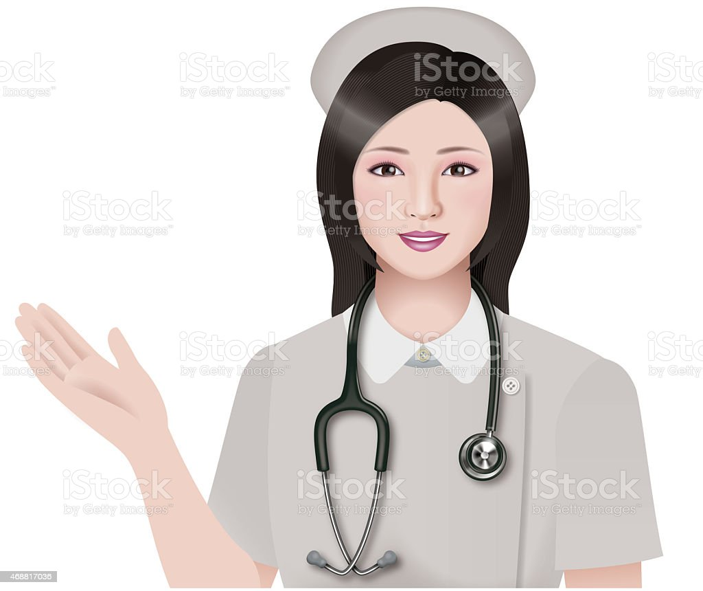 Nurse vector art illustration