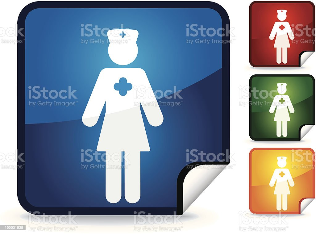 Nurse | Sticker Collection royalty-free stock vector art