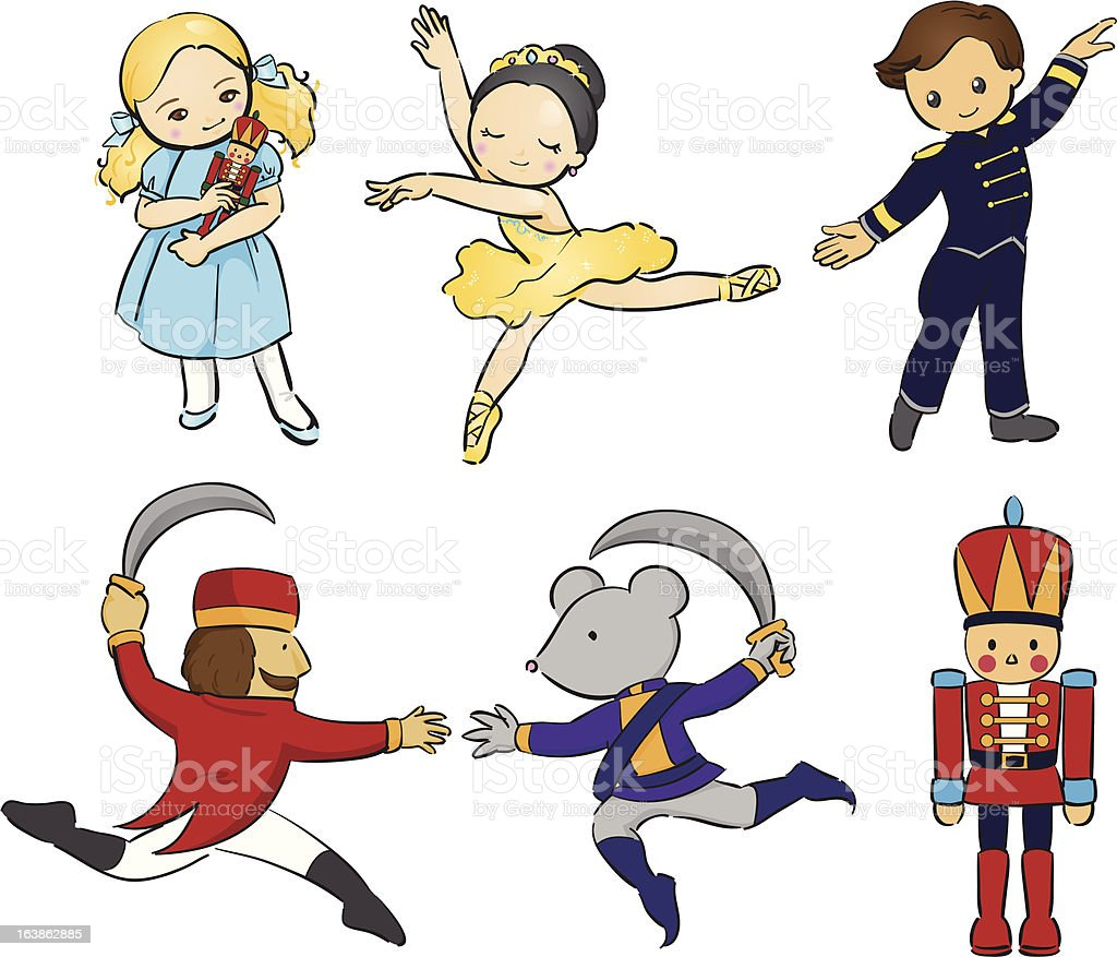 Nutcracker ballet vector art illustration