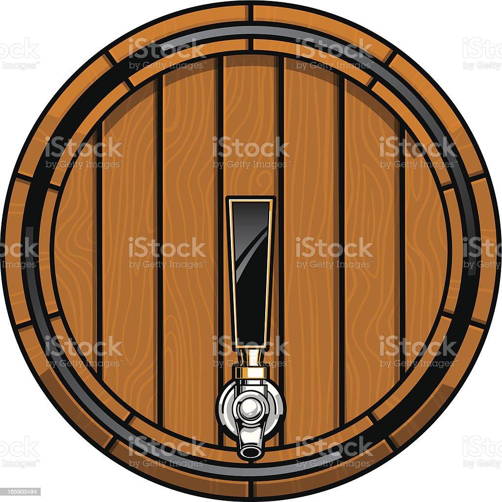 oak beer keg vector art illustration