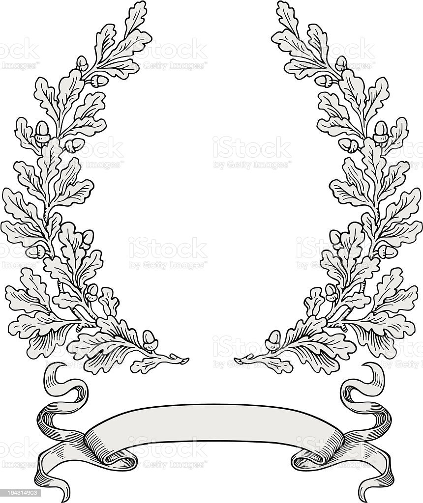 Oak frame vector royalty-free stock vector art
