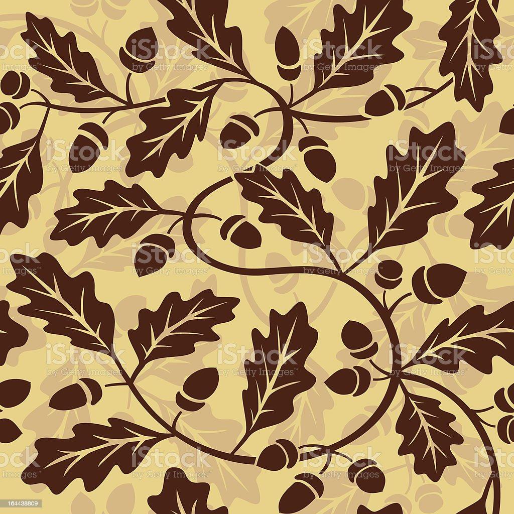 oak leaf acorn seamless royalty-free stock vector art