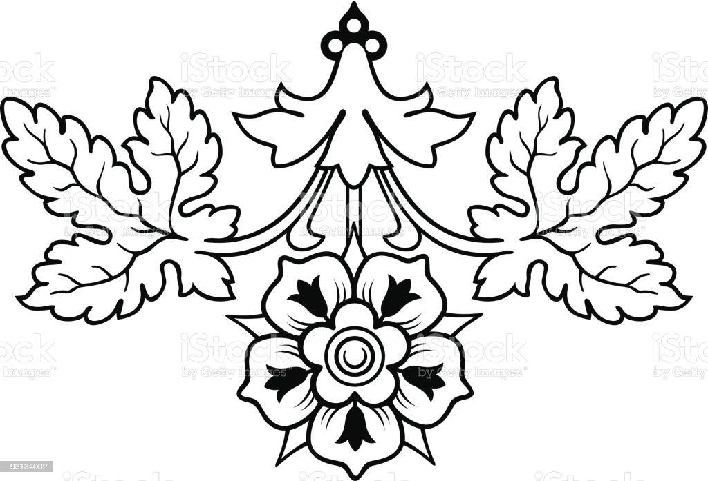 oak leaf2-71604 royalty-free stock vector art
