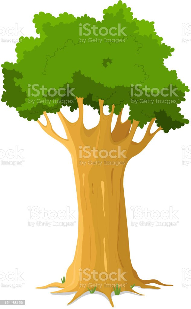 Oak Tree royalty-free stock vector art