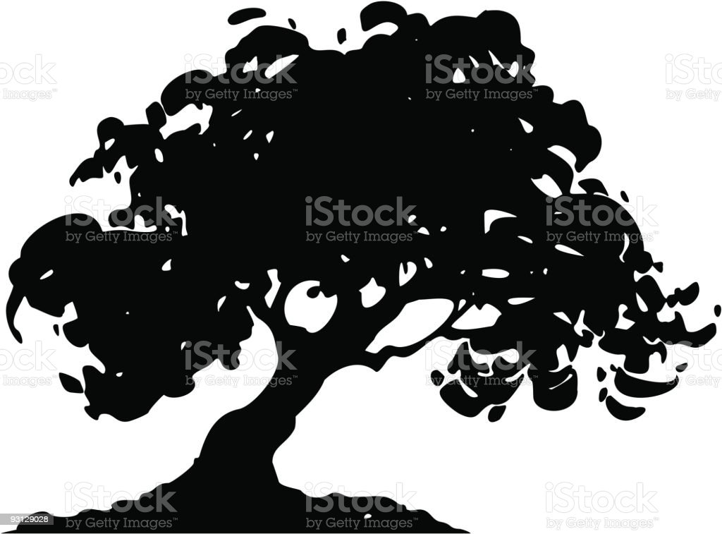 oak3 vector art illustration