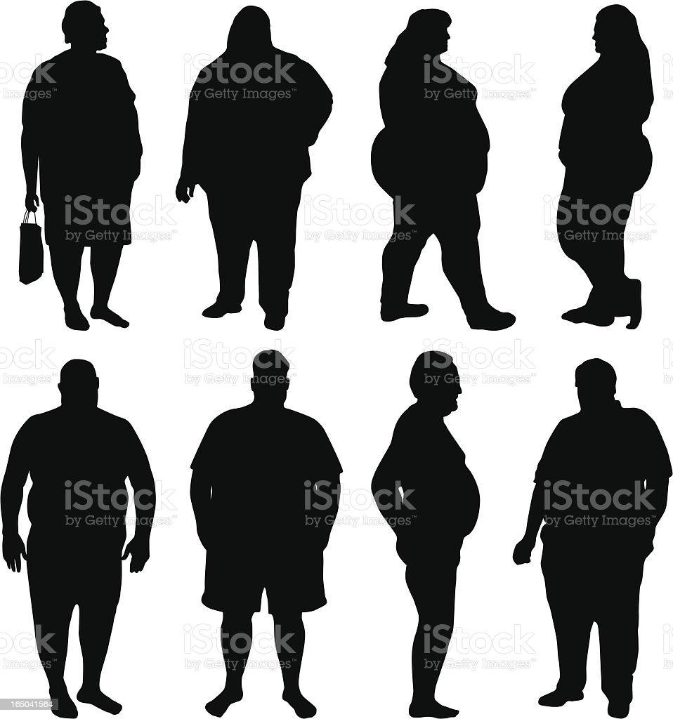 Obesity Epidemic vector art illustration