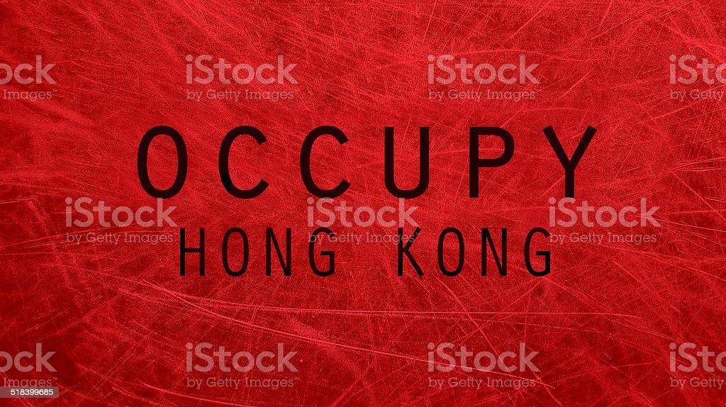 Occupy Hong Kong poster vector art illustration