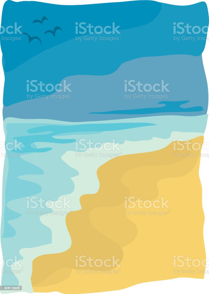 Ocean of Tranquillity vector art illustration