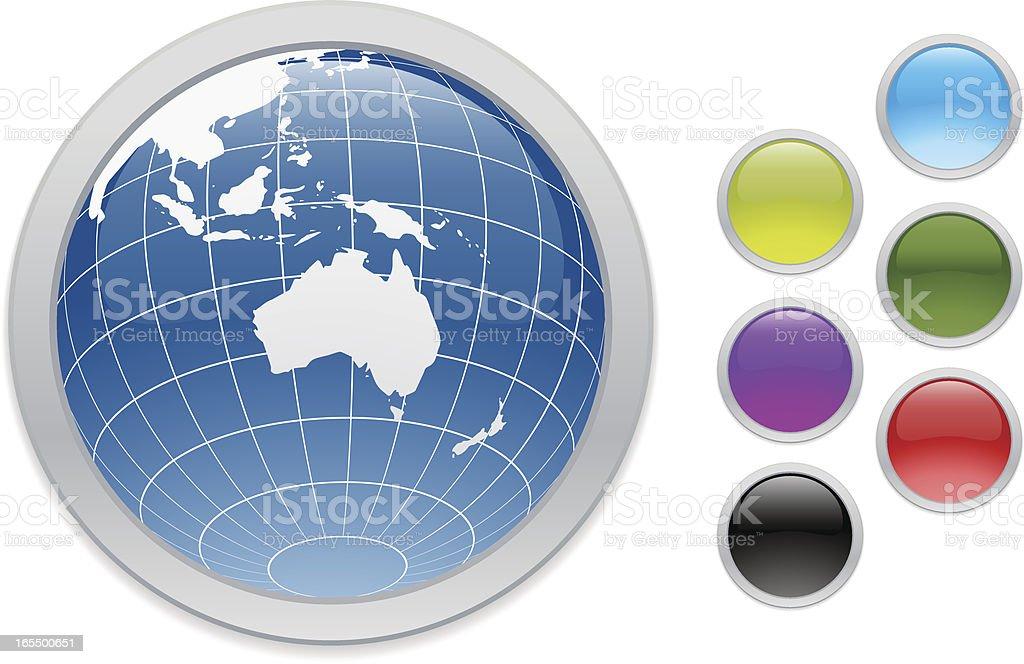 Oceania Web Buttons royalty-free stock vector art