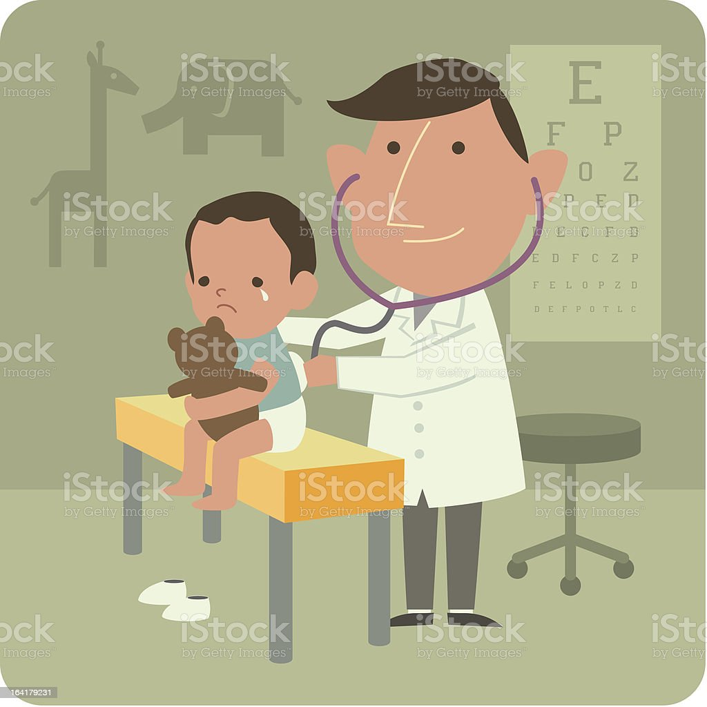 Ocupation - Pediatrician royalty-free stock vector art