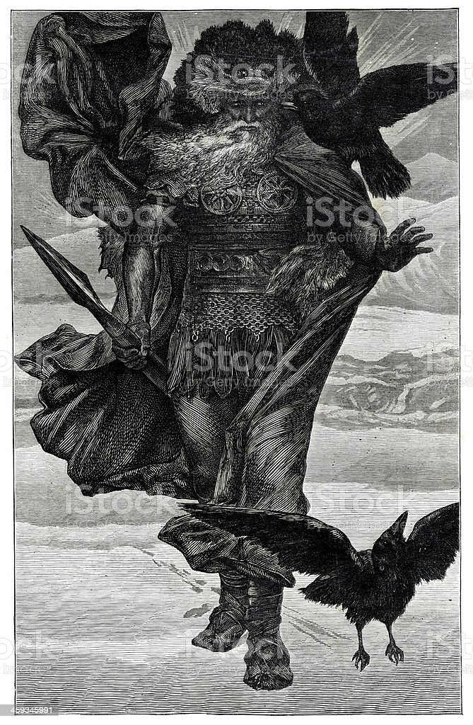 Odin the Northern God of War royalty-free stock vector art
