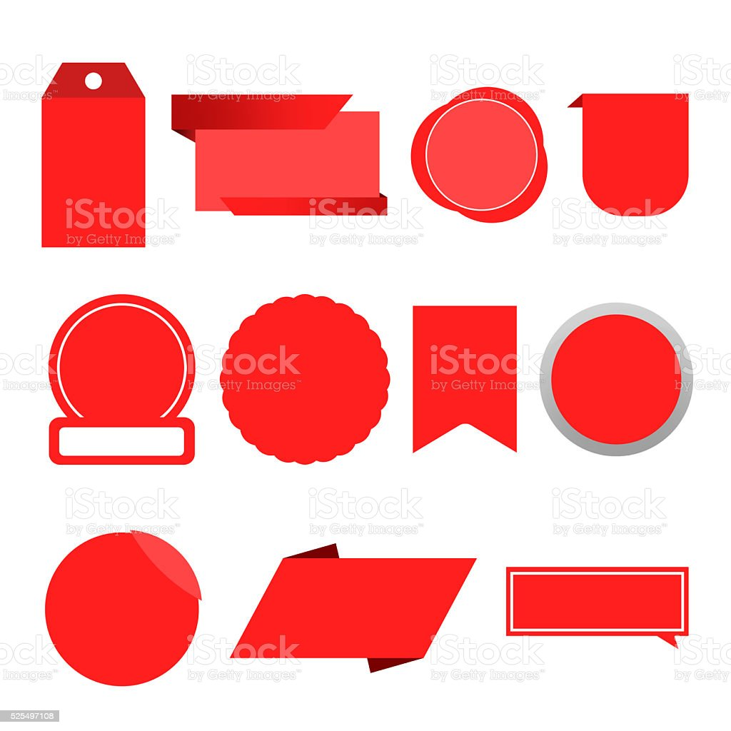 Offer Red Label Tag Blank stock photo