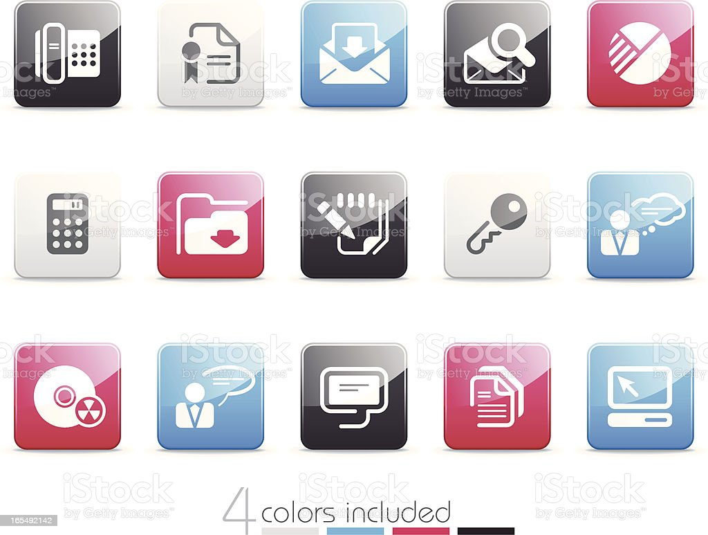 Office and Business icons | Senso series royalty-free stock vector art