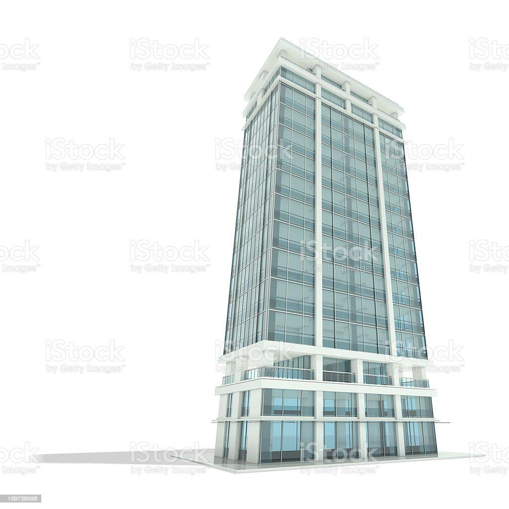 Office building vector art illustration