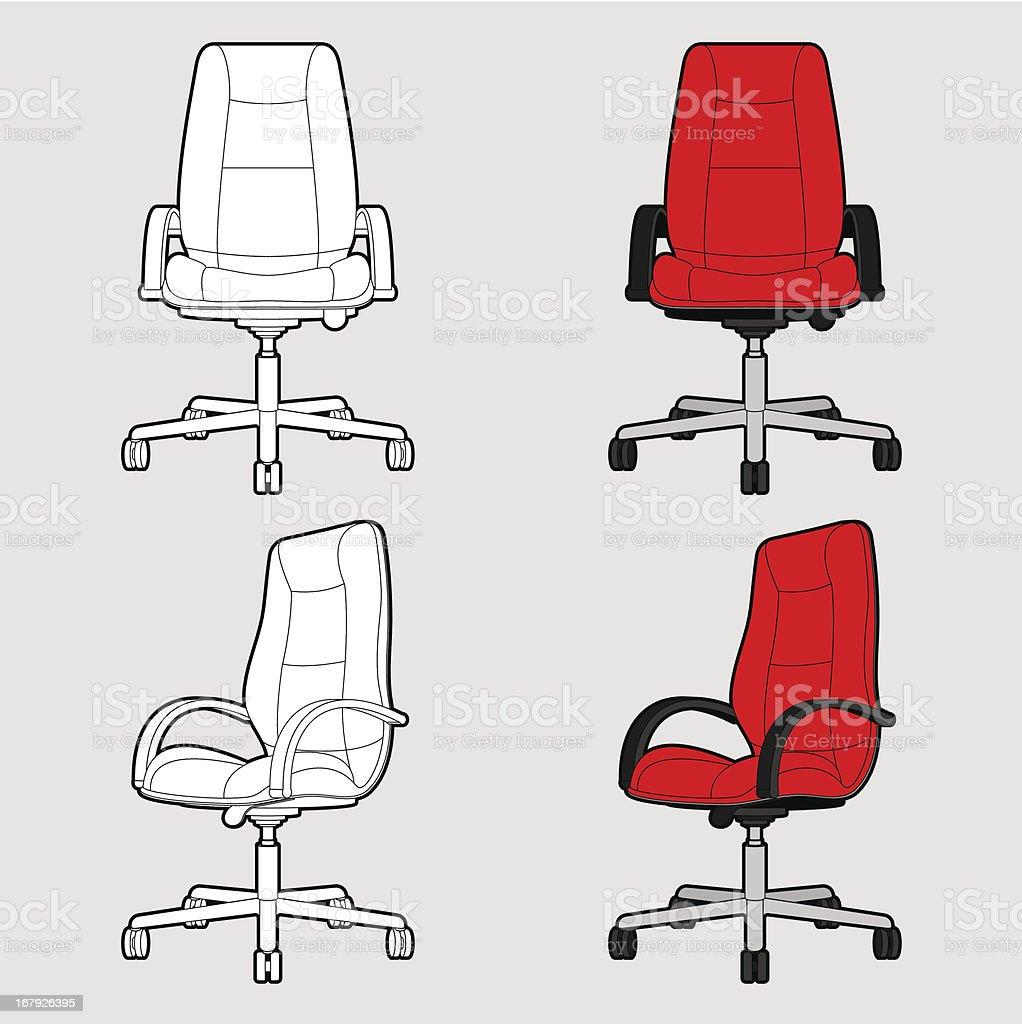 Bürostuhl comic  Bürostuhlkontur Toon Vektor Illustration 167926395 | iStock