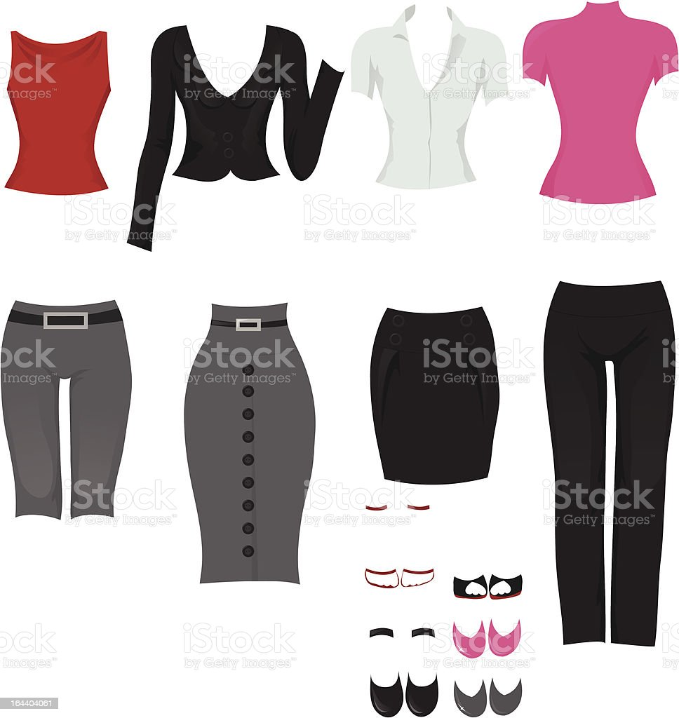 Office clothes royalty-free stock vector art