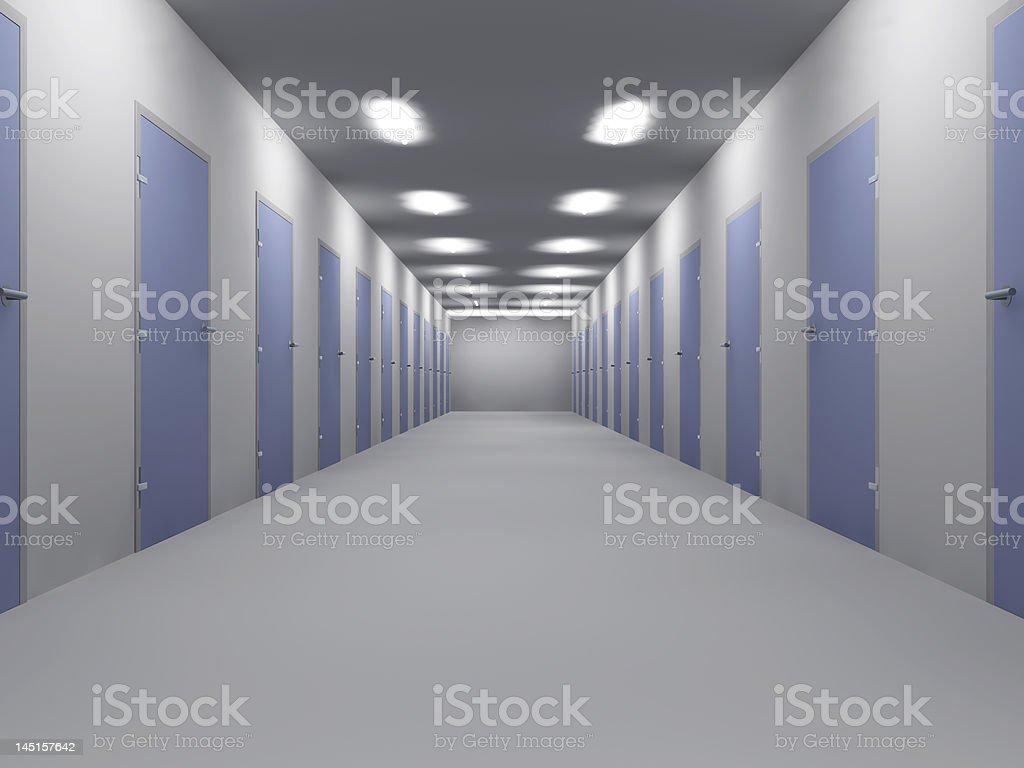 Office Floor vector art illustration