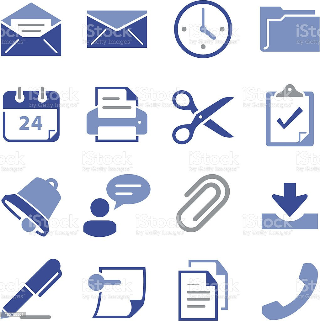 Office Icons - Pro Series royalty-free stock vector art