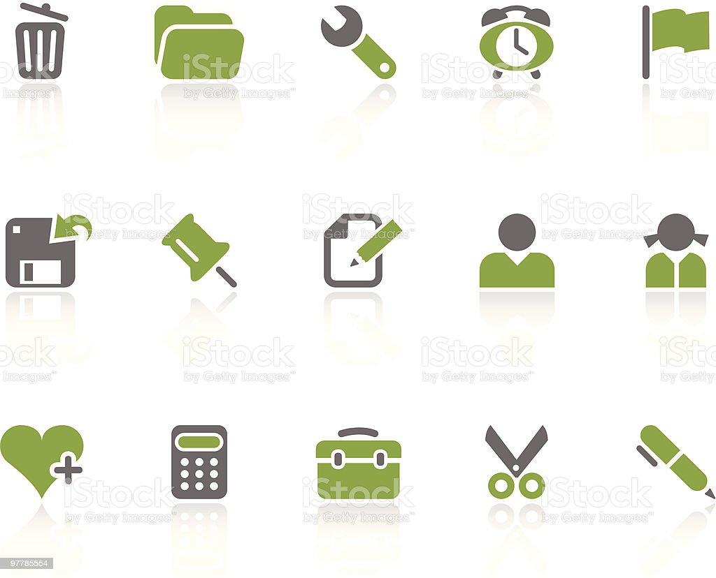 Office + Interface icons / kiwi series royalty-free stock vector art