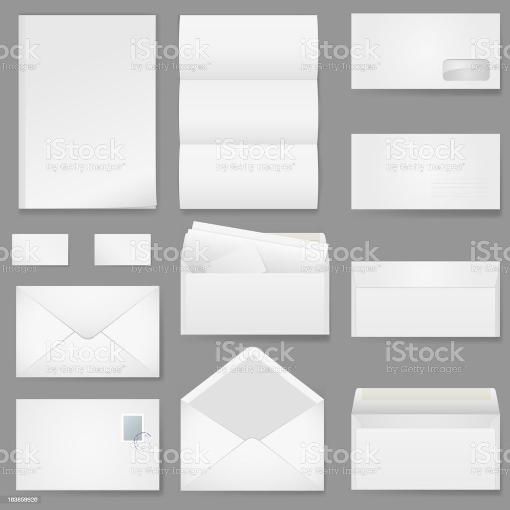 Office paper of different types. vector art illustration
