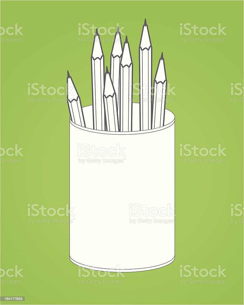 Office Suite Pencil Box royalty-free stock vector art