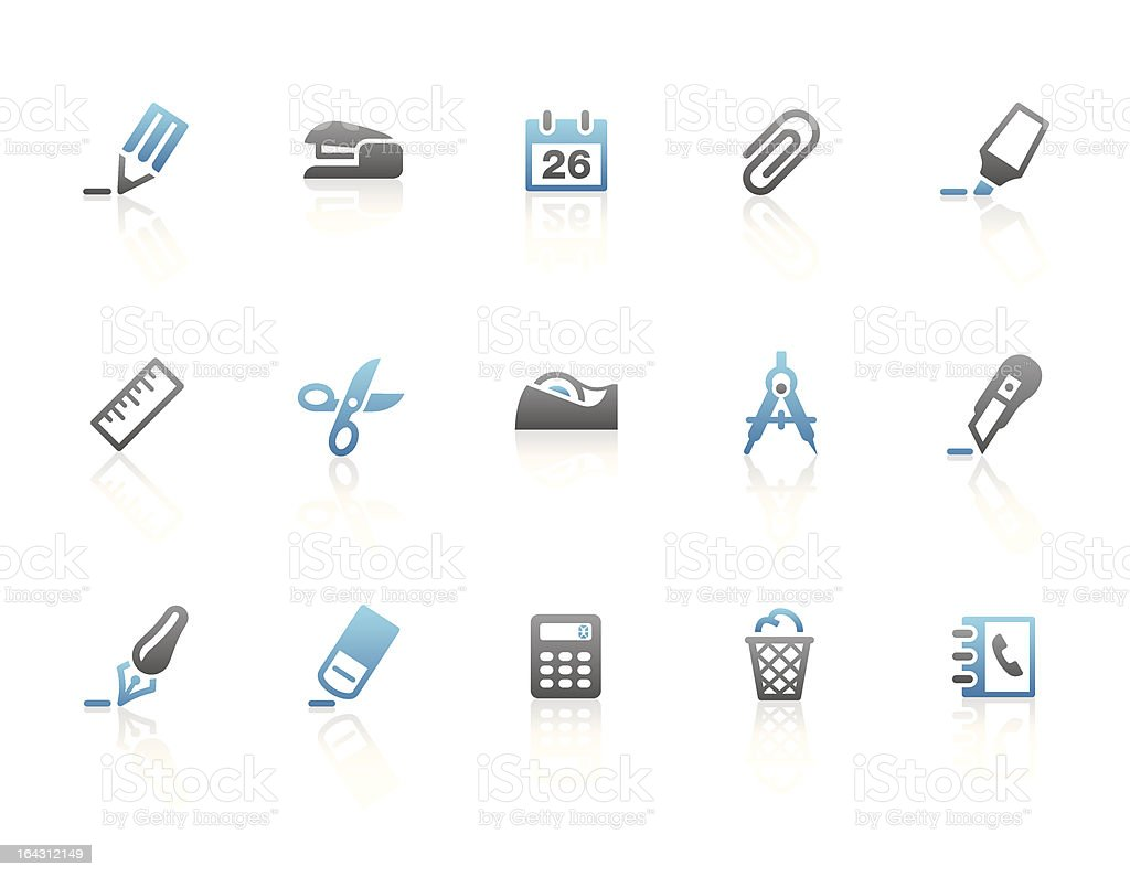 Office Supplies icons royalty-free stock vector art