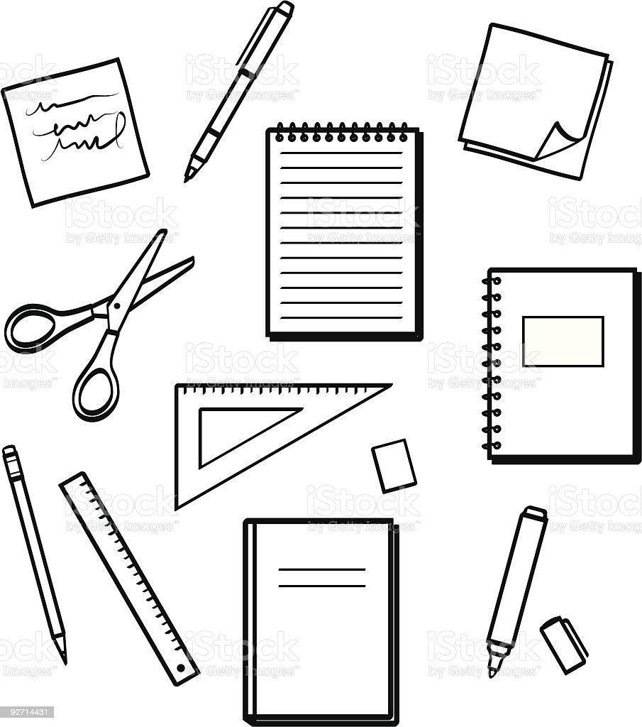 Office supplies - Vector illustrations vector art illustration
