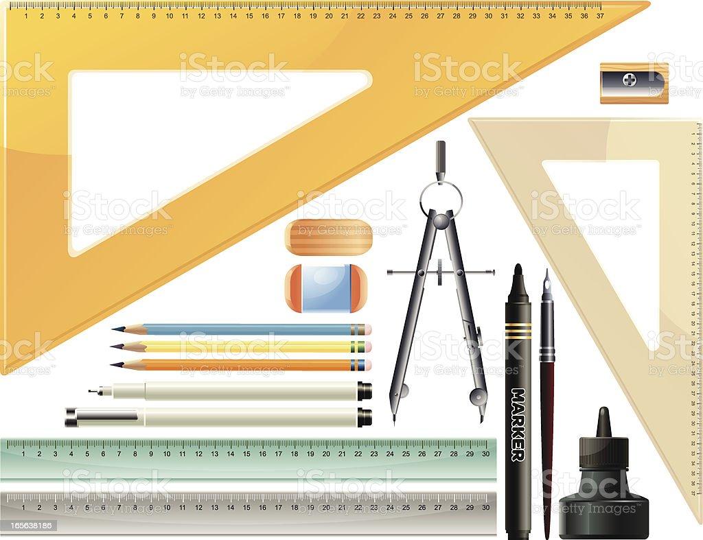 Office Supply Set vector art illustration