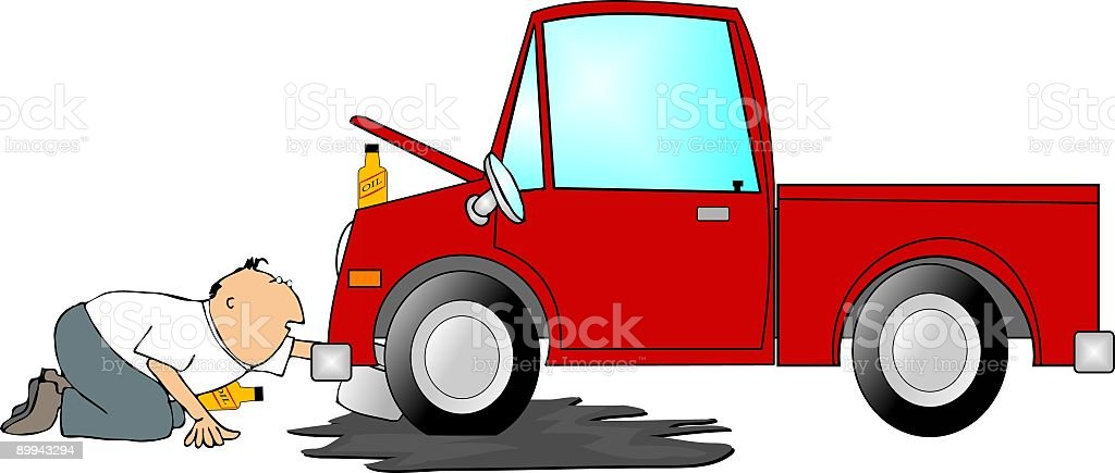 Oil change royalty-free stock vector art
