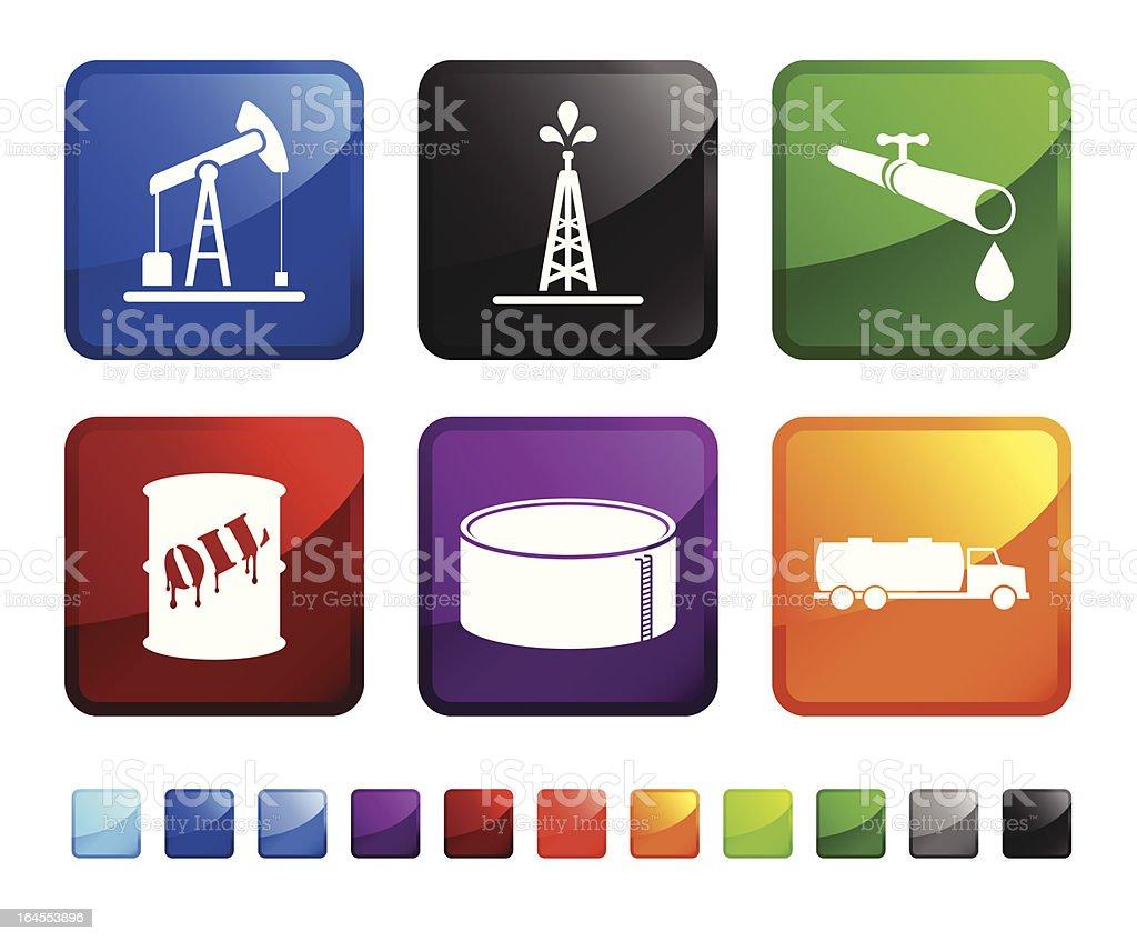 oil delivery sticker set vector art illustration