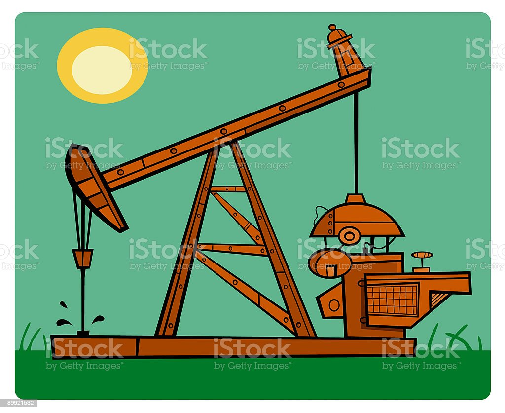 Oil Derrick royalty-free stock vector art