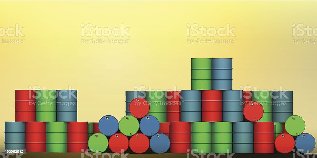 Oil Drums royalty-free stock vector art