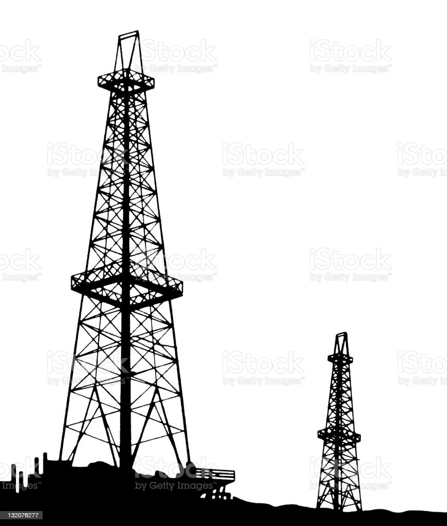Oil Field royalty-free stock vector art