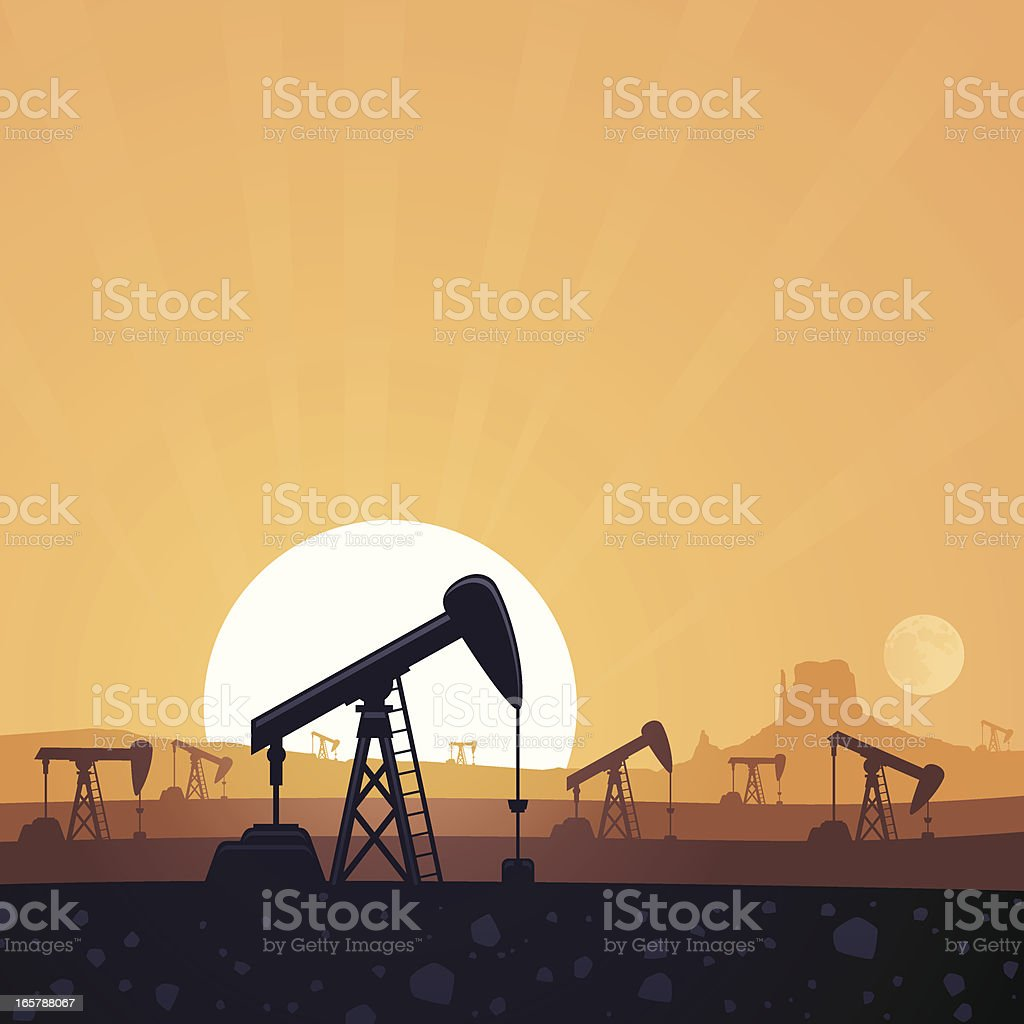 Oil Field royalty-free stock vector art