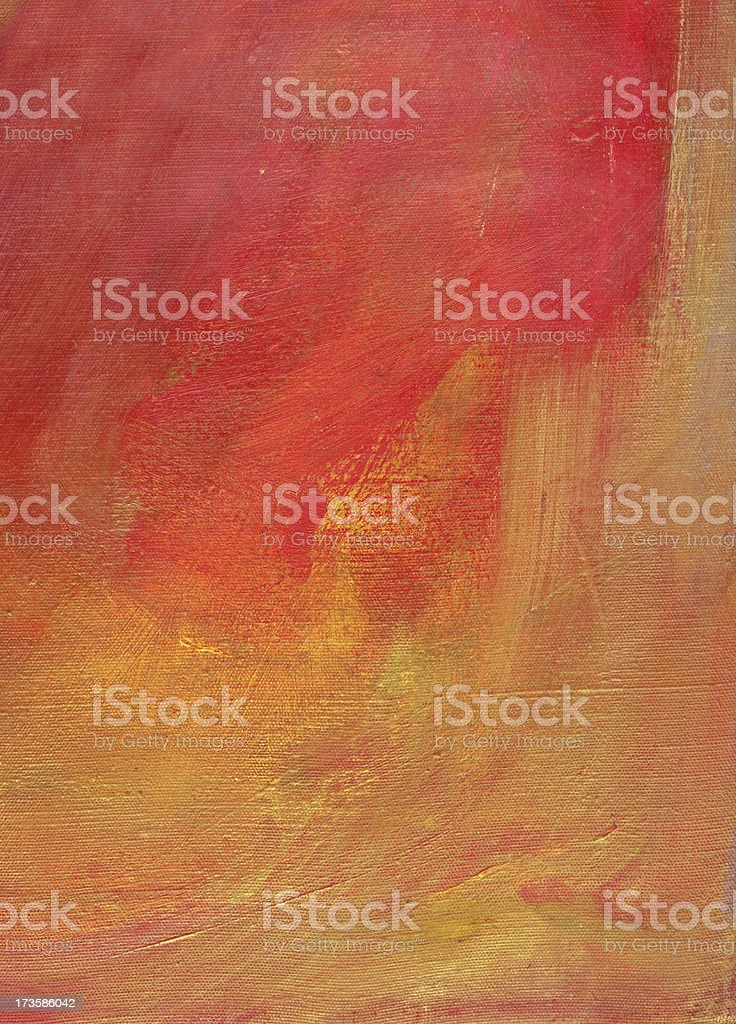Oil on Canvas Red Painting Background royalty-free stock vector art