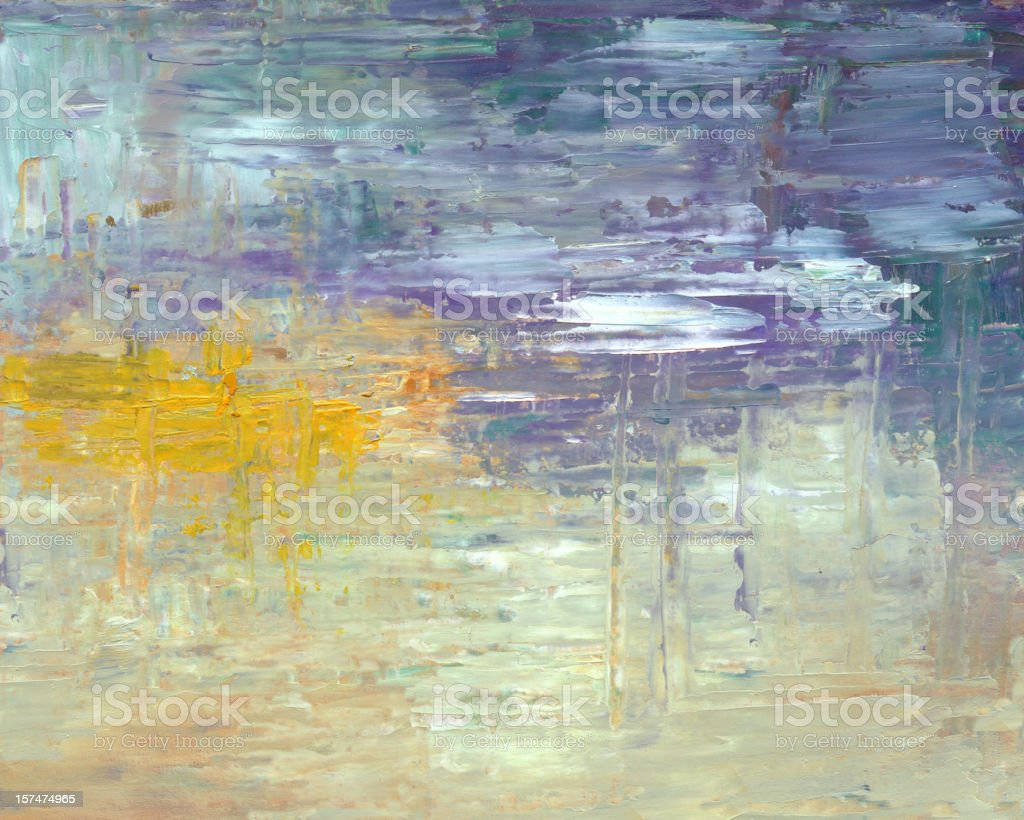 Oil painted Abstract background (water surface) royalty-free stock vector art