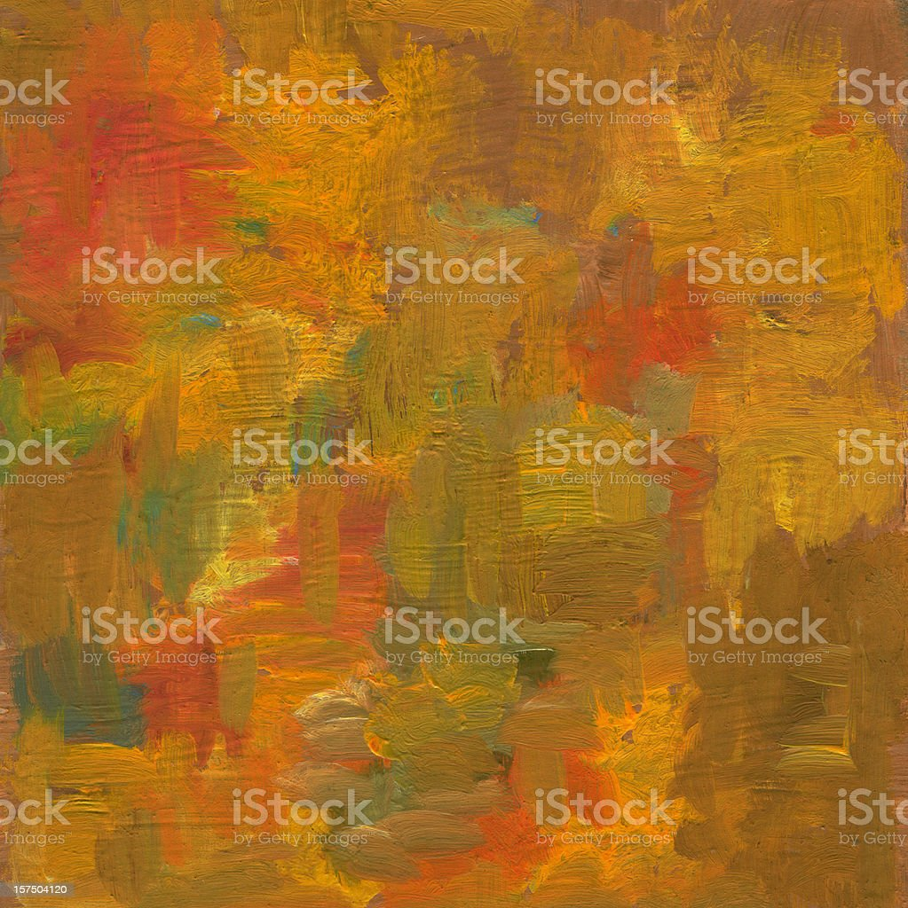 Oil painted abstract background in autumn colors royalty-free stock vector art