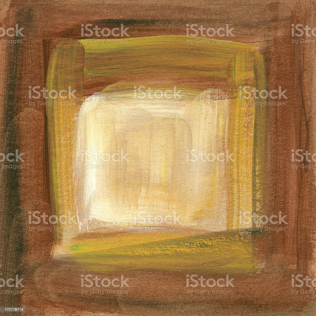 Oil painted Open Window royalty-free stock vector art