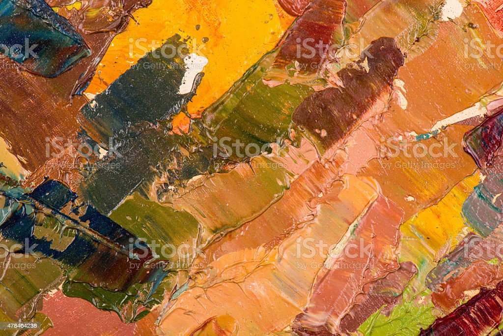 Oil painting abstract brushstrokes vector art illustration