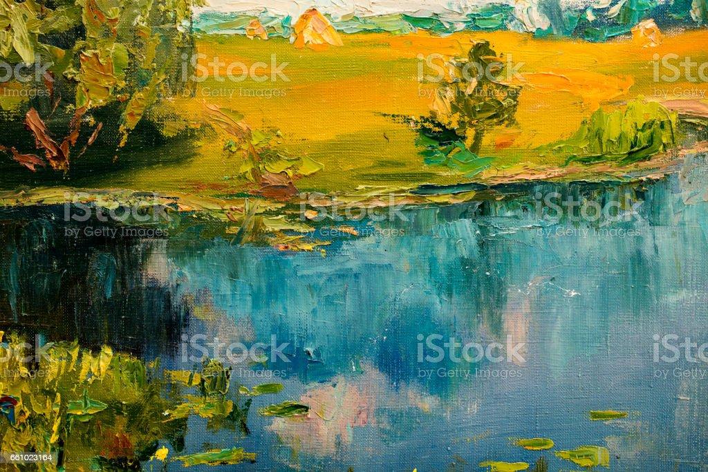 Oil painting vector art illustration