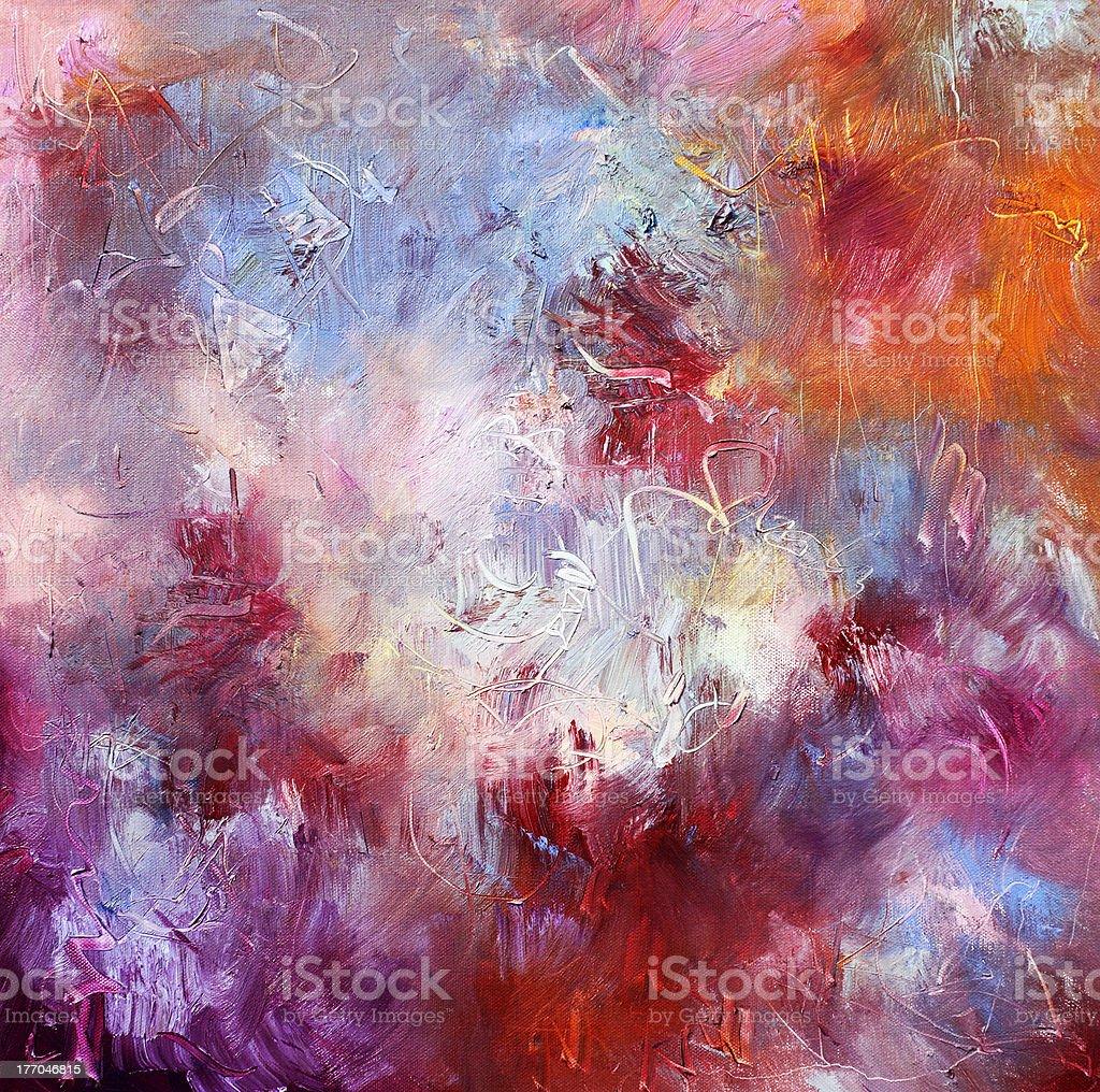 oil paints on canvas vector art illustration