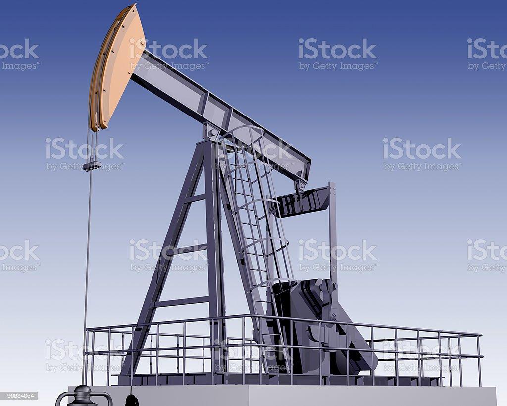 Oil Rig royalty-free stock vector art