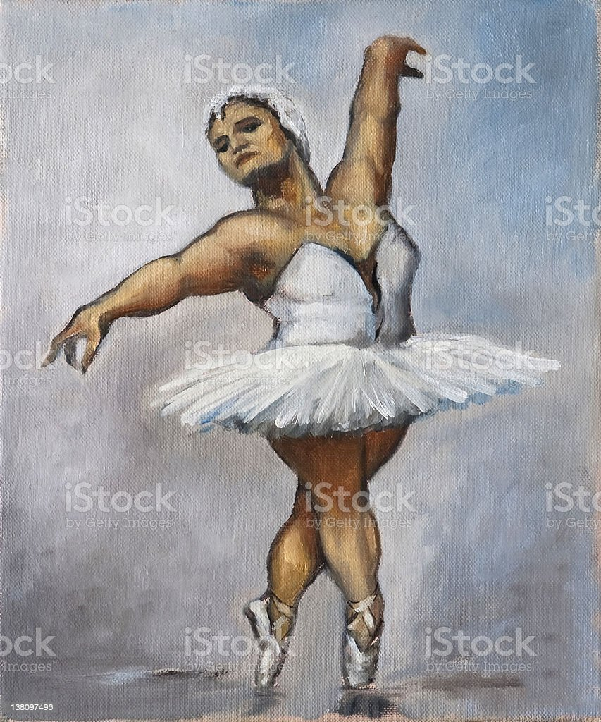 Oilpainting - Fat Ballerina royalty-free stock vector art