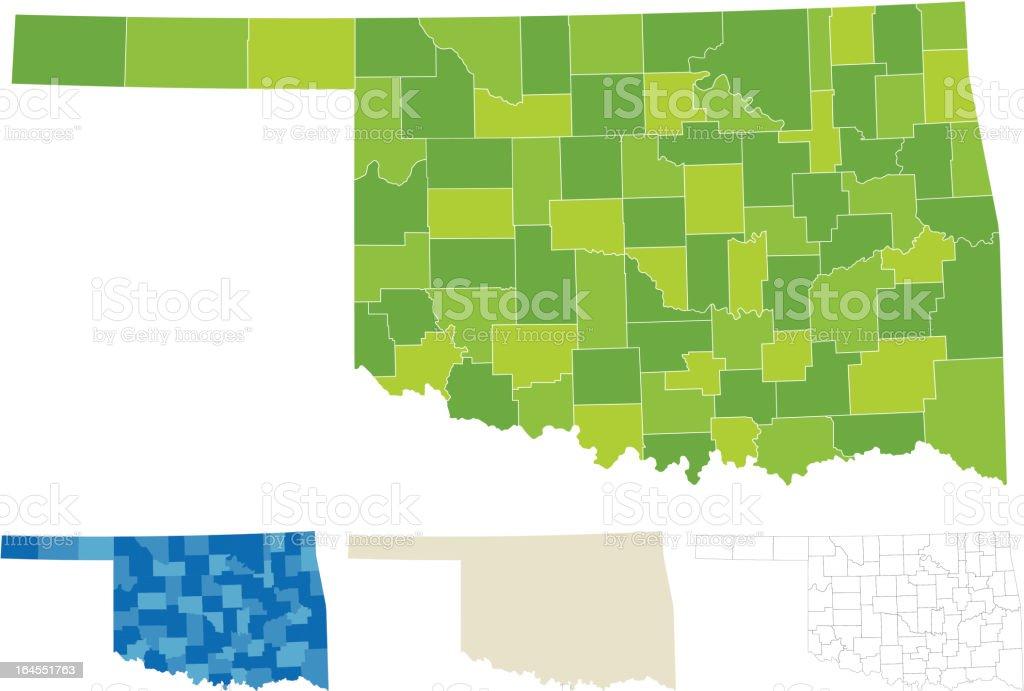 Oklahoma County Map royalty-free stock vector art