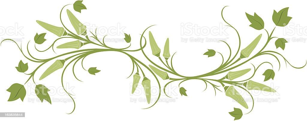 okra banner vector art illustration
