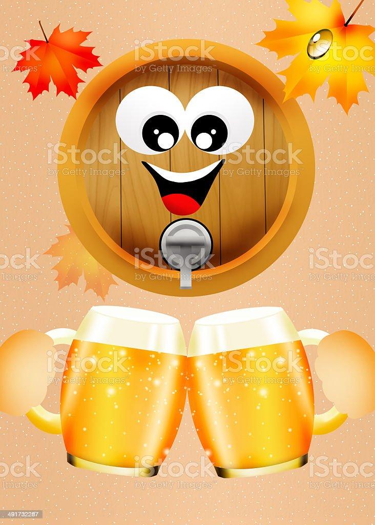 Oktoberfest beer royalty-free stock vector art